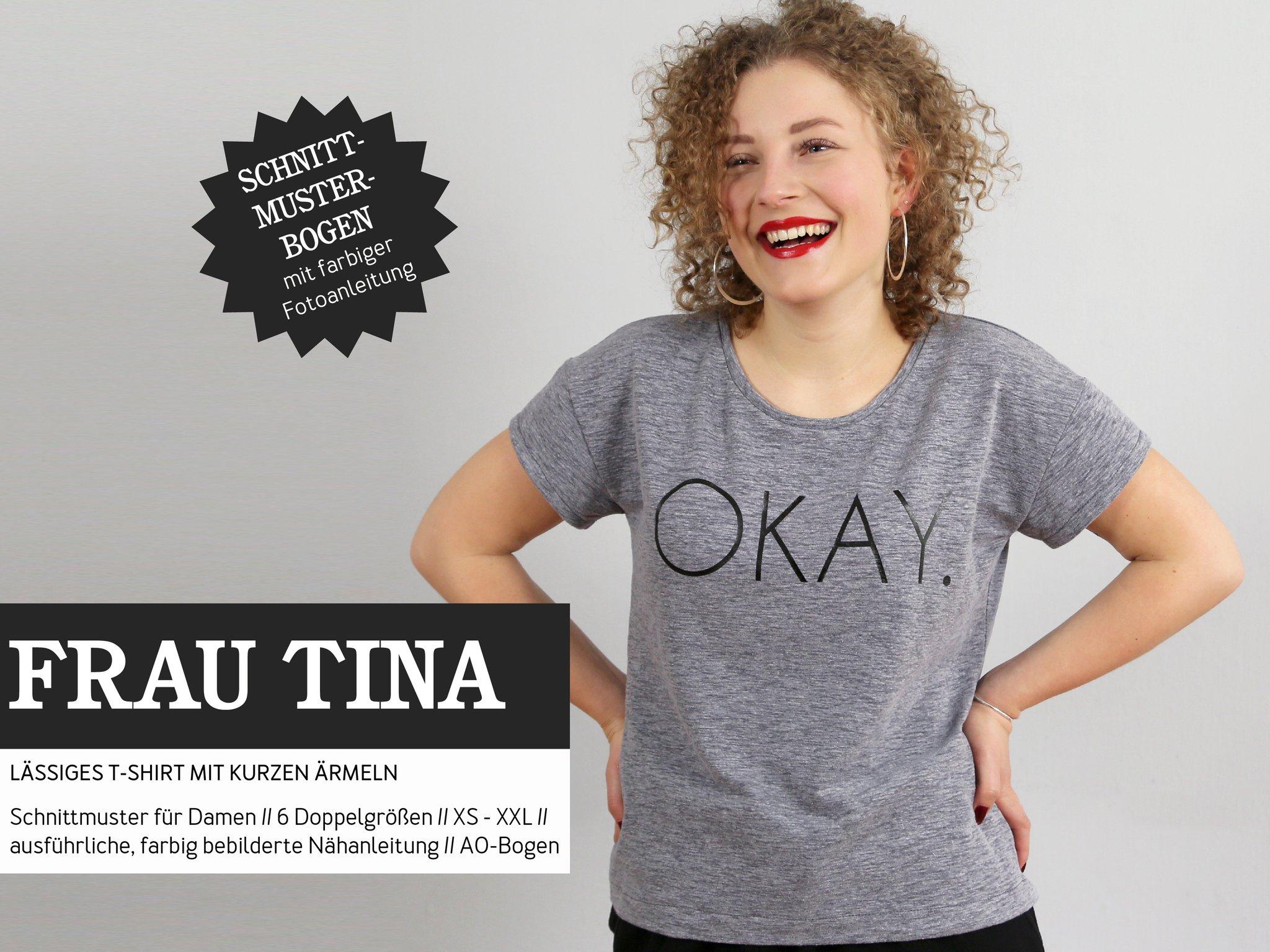 STUDIO SCHNITTREIF Frau Tina Shirt - Papierschnittmuster