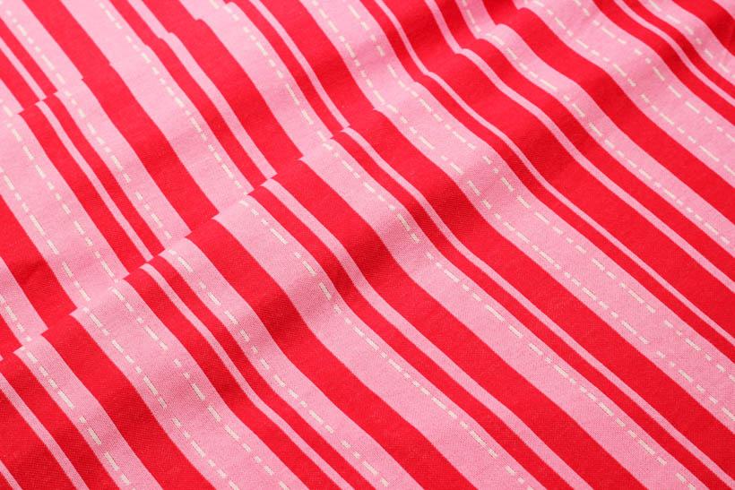 "Jacquard - BLOOM ""Pin Stripes"" rot  - HAMBURGER LIEBE & ALBSTOFFE"