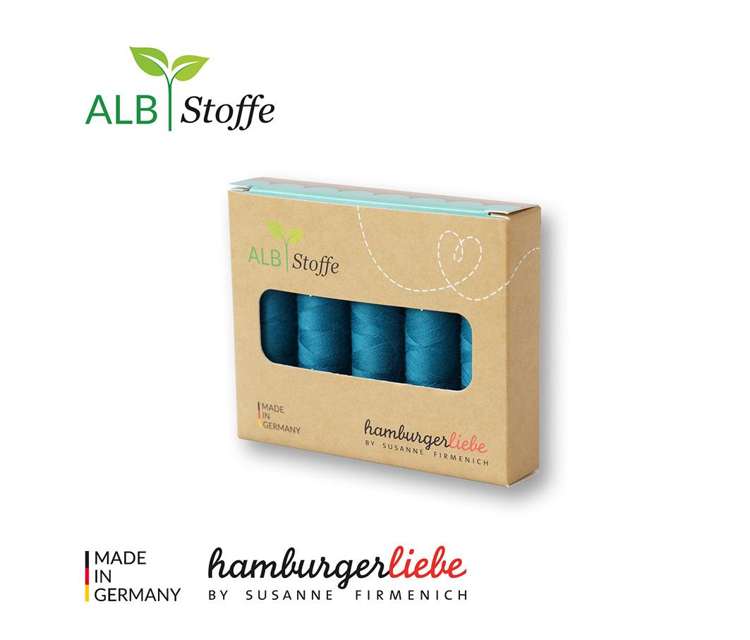 Nähgarn-Set Stitch Me petrol 5er Set von Hamburger Liebe & Albstoffe
