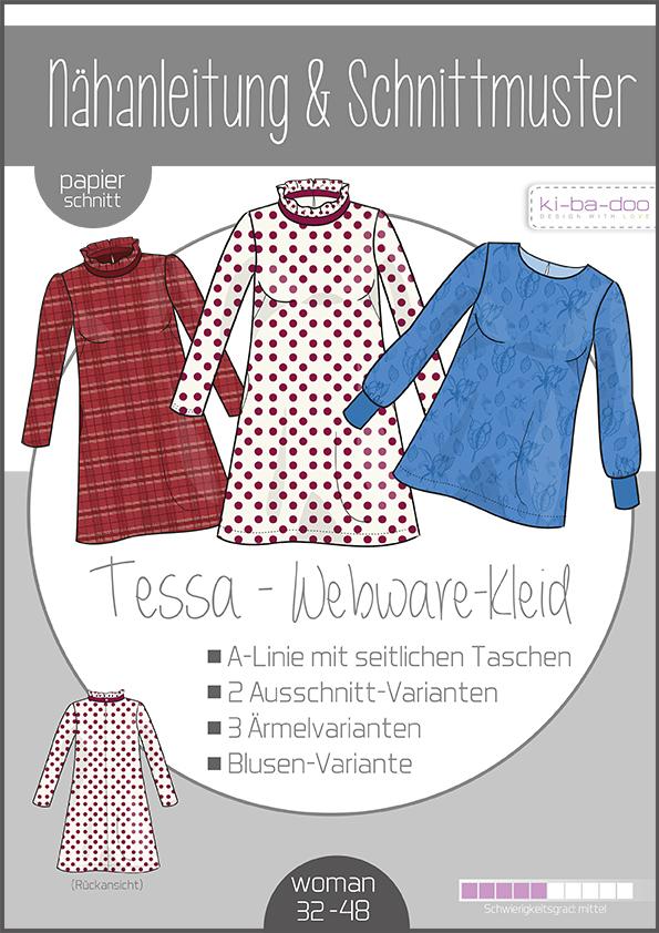KI-BA-DOO Tessa Kleid Bluse Tunika Damen Papierschnittmuster