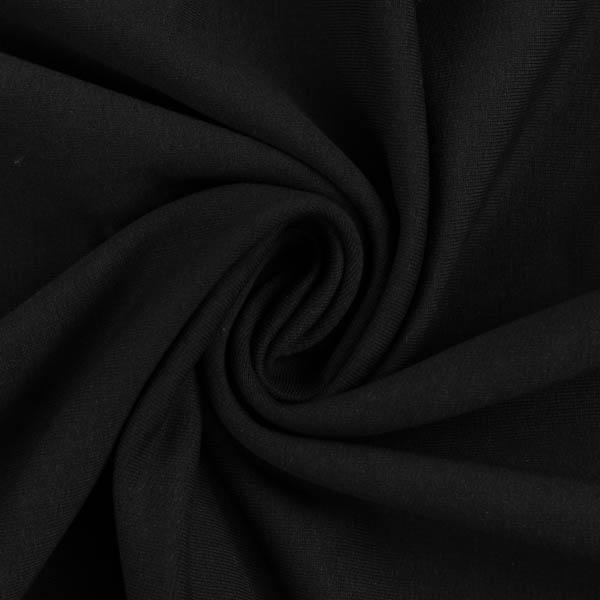 Angerauter French Terry in schwarz | Swafing