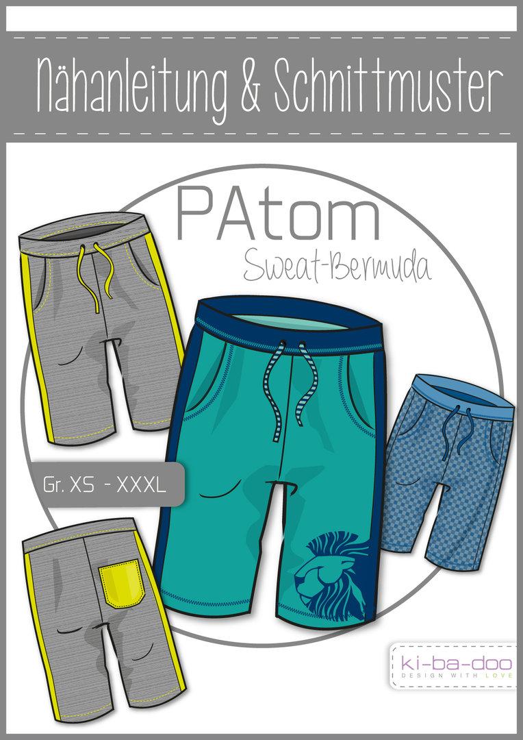 KI-BA-DOO PaTom Sweat-Bermuda Papierschnittmuster
