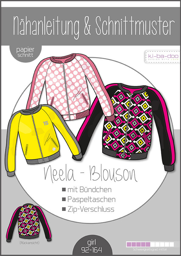 KI-BA-DOO Neela Blouson Jacke Papierschnittmuster