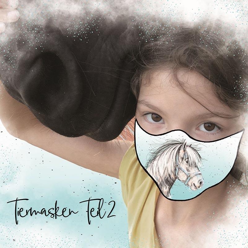 Bio-Baumwolle Panele Tiermasken Teil 2 für Gesichtsmasken für Kinder von Lillestoff