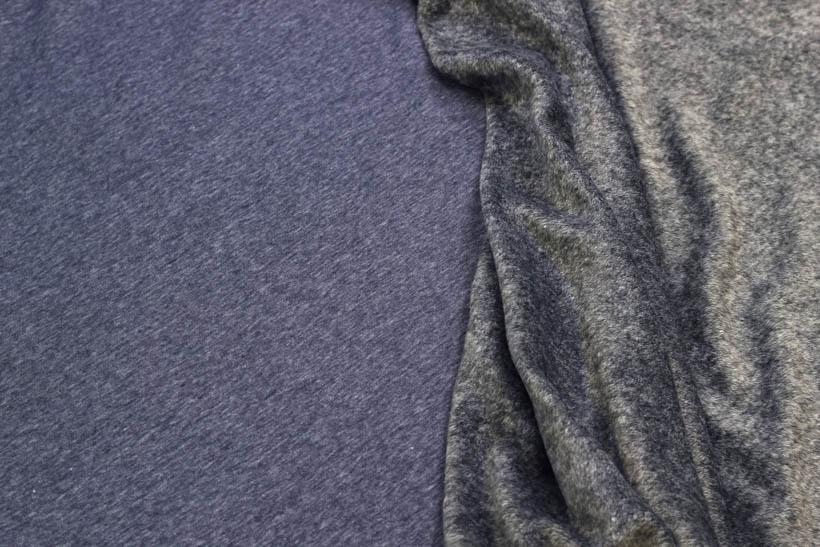 Alpenfleece meliert in dunkelblau von Swafing kaufen!
