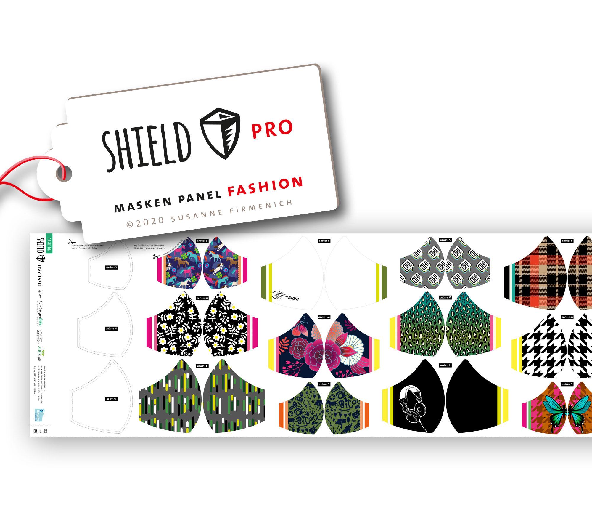 Shield Pro - Shield Panel Fashion rund von Hamburger Liebe & Albstoffe - antimikrobiell für Atem-und Mundmasken!