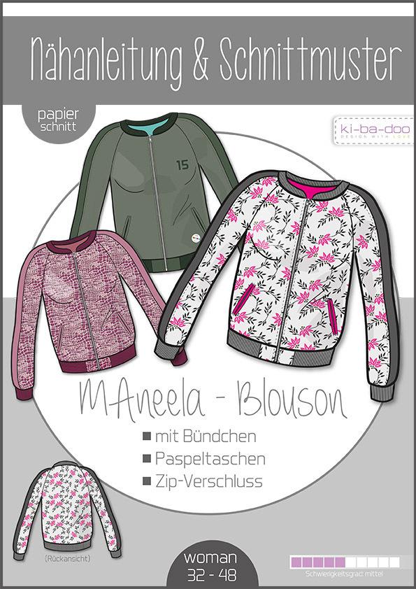 KI-BA-DOO MAneela Blouson Jacke Damen Papierschnittmuster