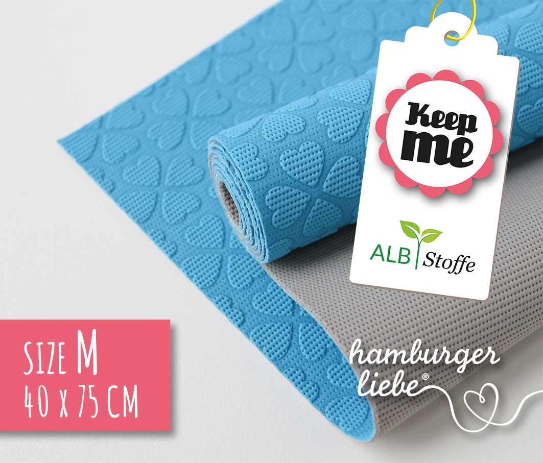 KEEP ME BLAU - Antirutsch-Matte (M) 40x75 cm aus Naturkautschuk von Hamburger Liebe & Albstoffe