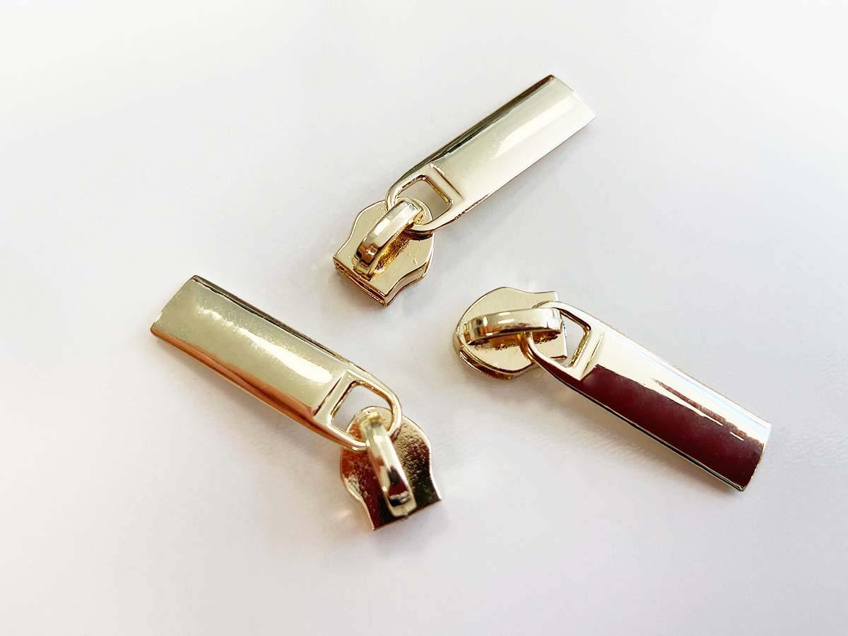 Zipper für Reißverschlüsse - gold