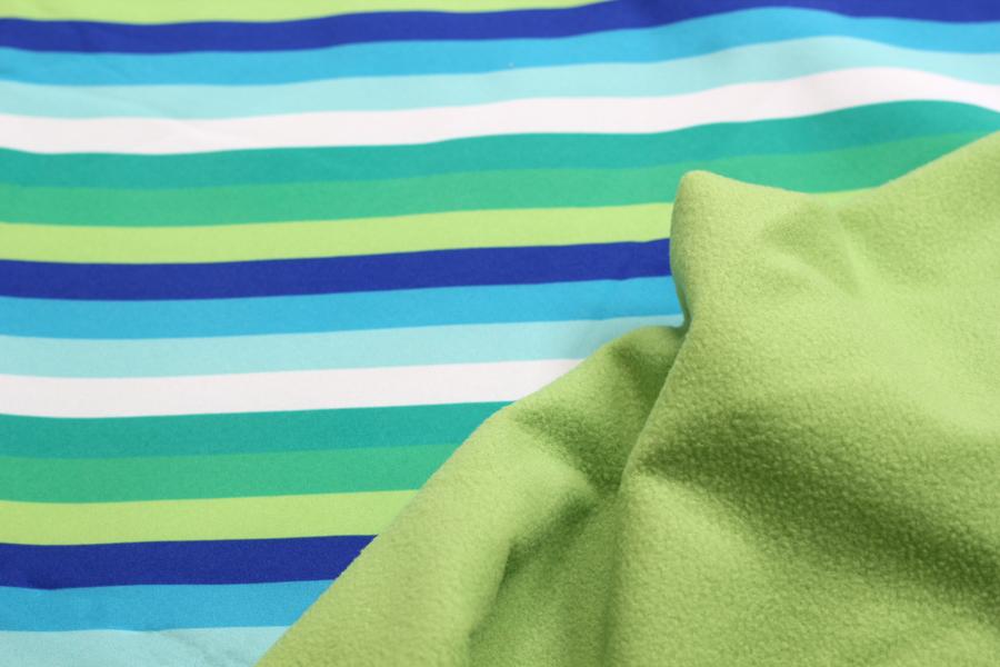 Softshell - blaue, grüne und weiße Streifen