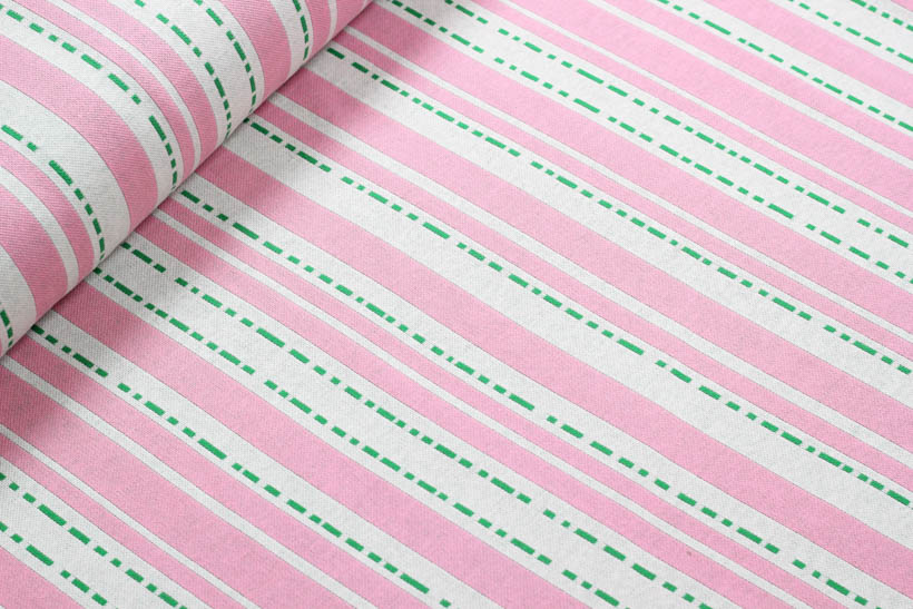 "Jacquard - BLOOM ""Pin Stripes"" rosa  - HAMBURGER LIEBE & ALBSTOFFE"