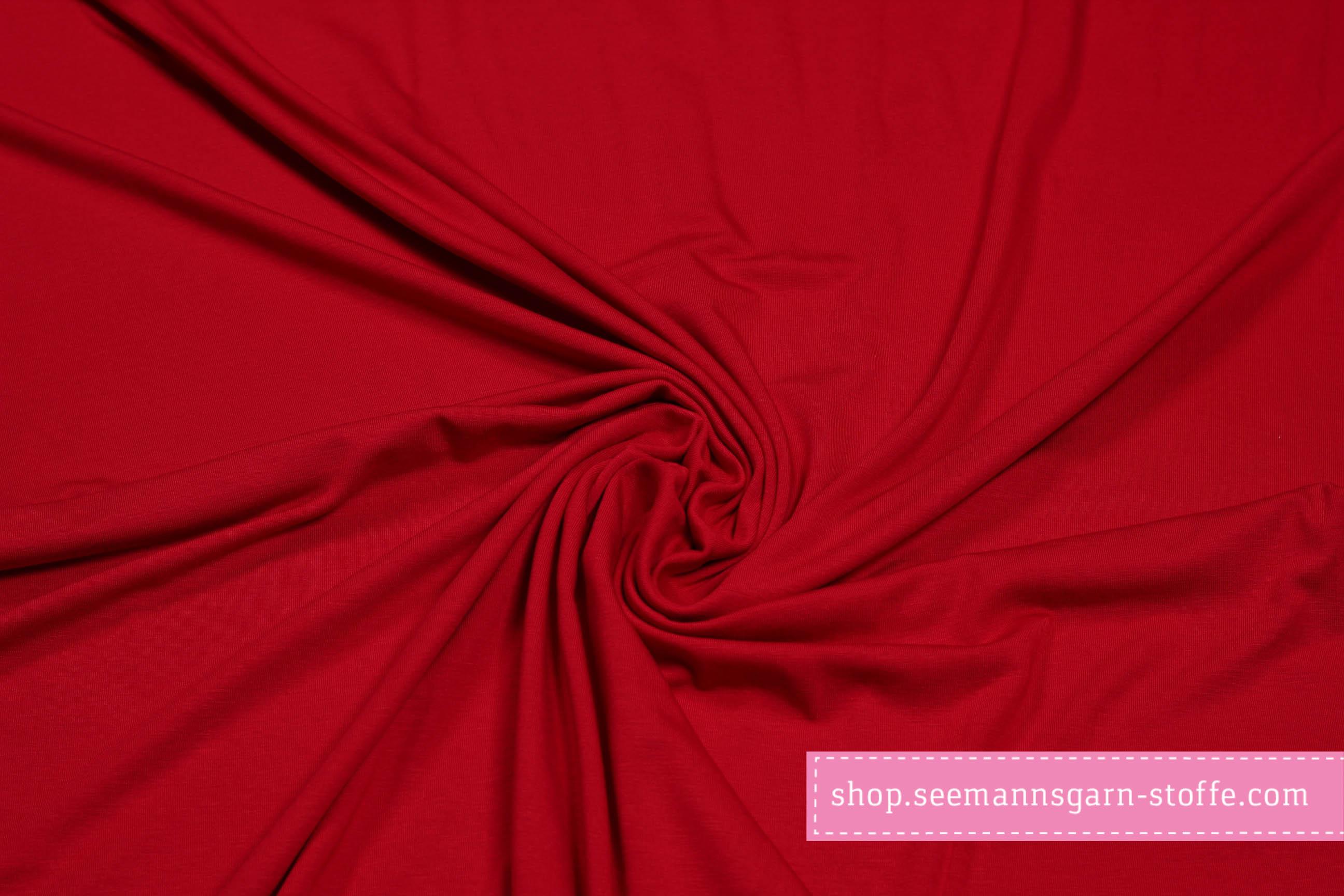 Viskose Stretch Jersey - Rot