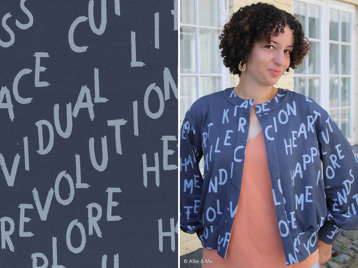 French Terry - Modal Sweat - Words needed in blau - Swafing