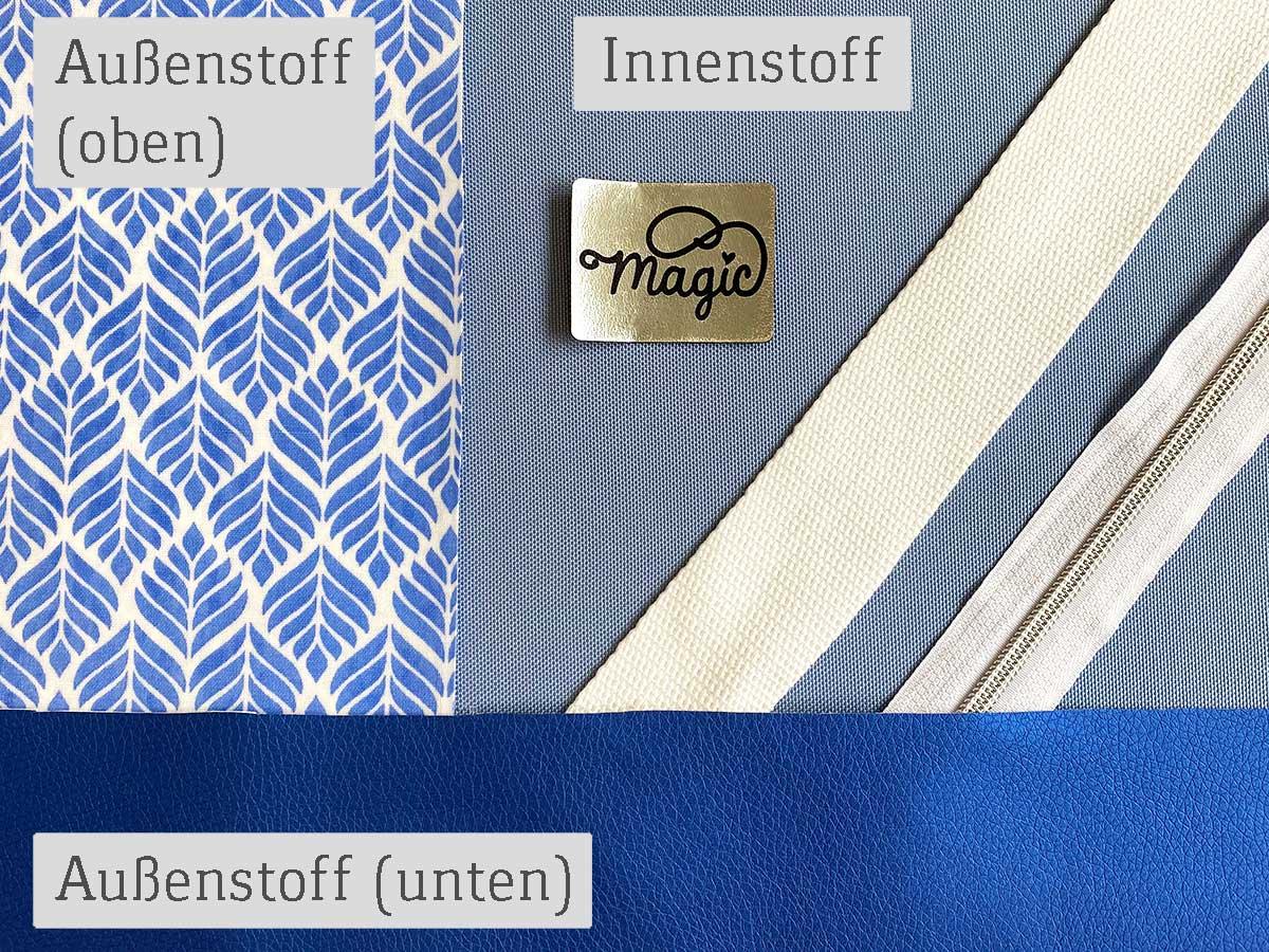 Strandtasche nähen - DIY- Set von SEEMANNSgarn - blau