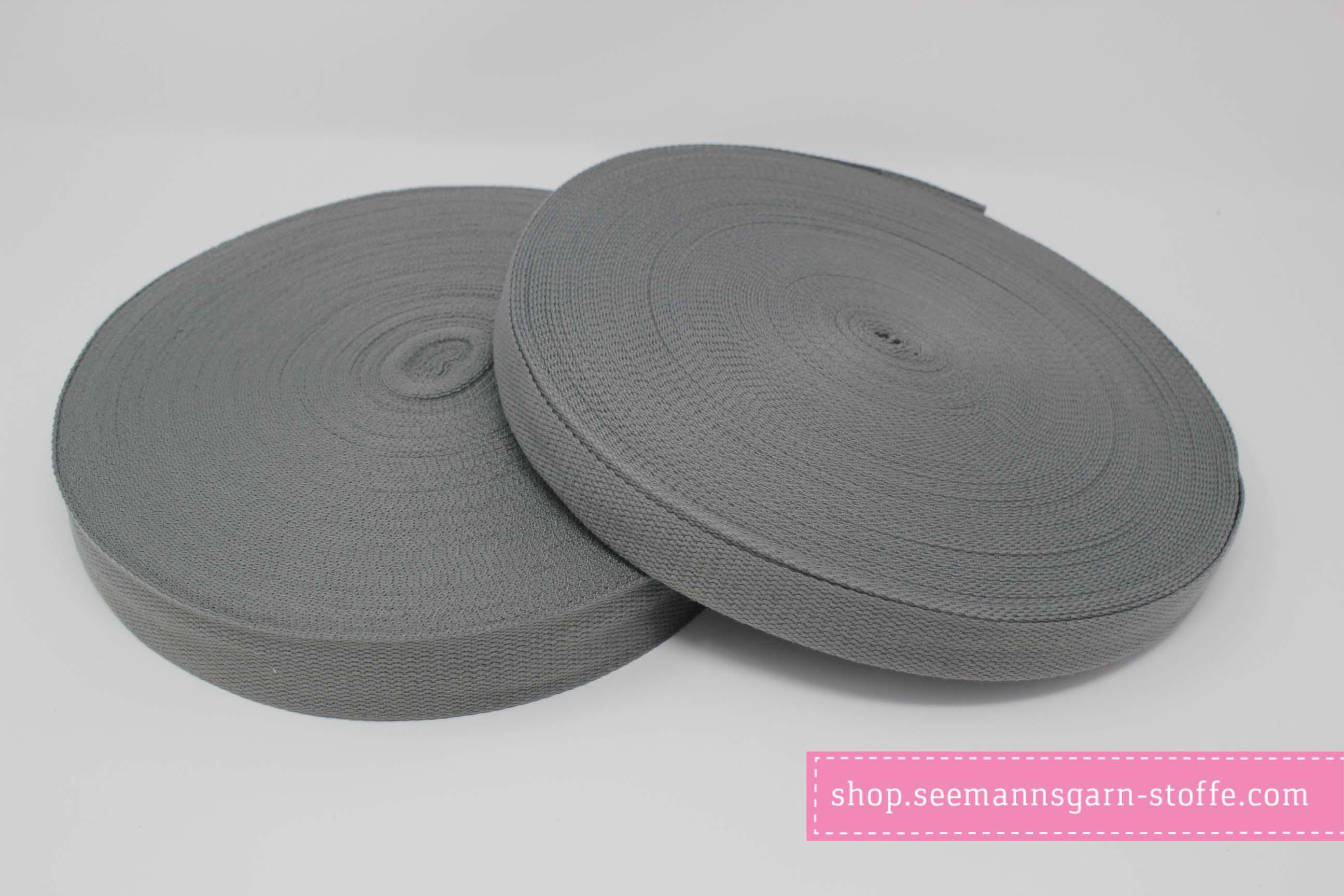 Baumwoll Gurtband dunkelgrau 38 mm