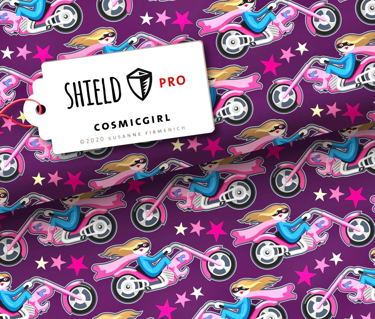 Shield PRO KIDS - Cosmicgirl Violett von Hamburger Liebe & Albstoffe - antimikrobiell für Atem-und Mundmasken!