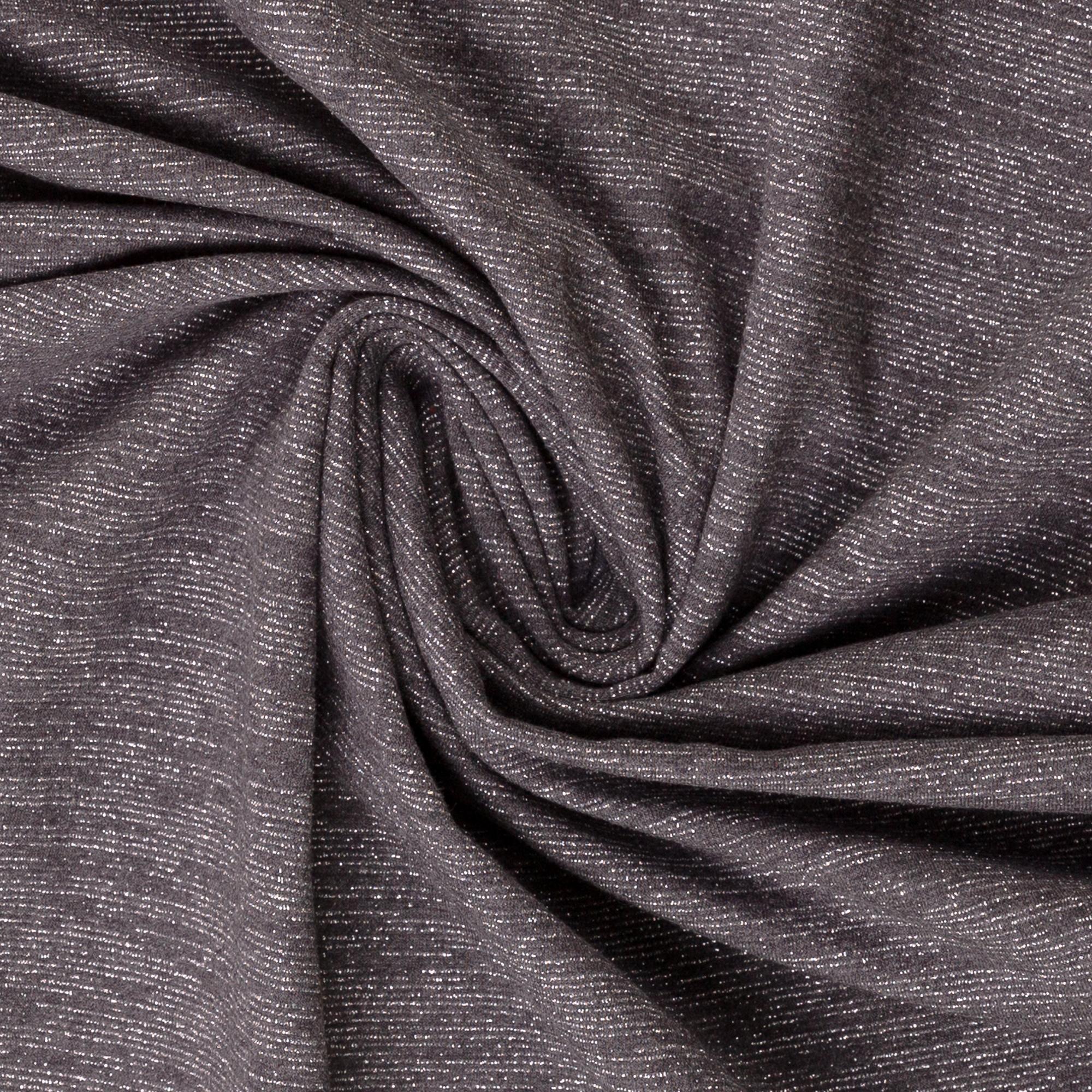 Angerauter Sweat  in grau mit silbernen Streifen von Swafing kaufen!