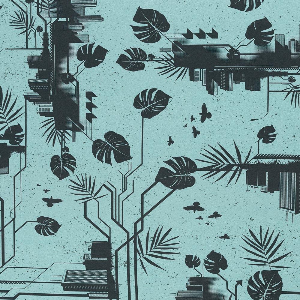 Jersey Urban Jungle by Thorsten Berger - Swafing - türkis