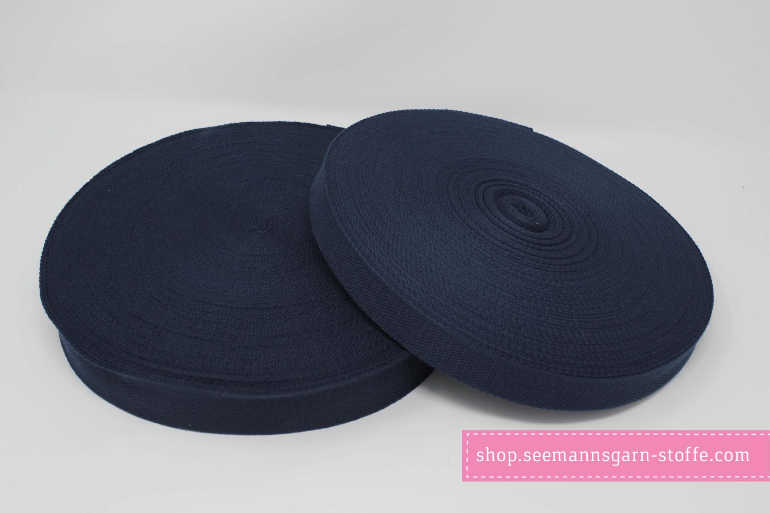 Baumwoll Gurtband dunkelblau 38 mm