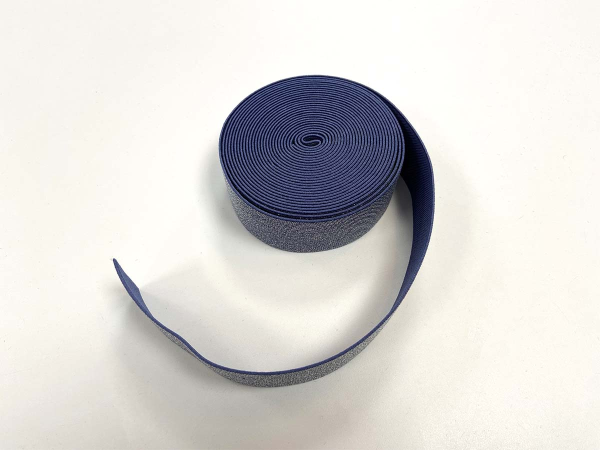 Gummiband mit Glitzer,  4cm in dunkelblau