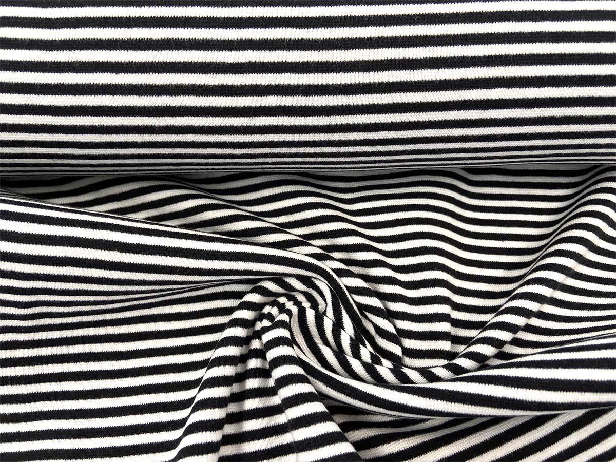Bündchen - schwarz/weiß gestreift