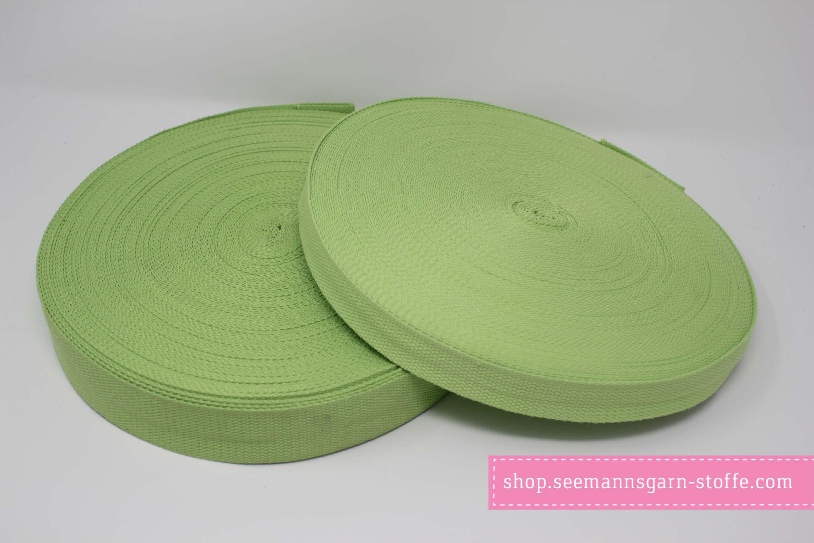 Baumwoll Gurtband grün 38 mm