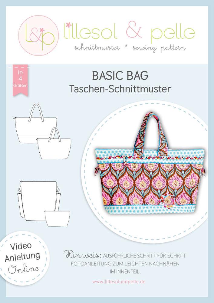LILLESOL & PELLE Basic Bag Strandtasche Papierschnittmuster