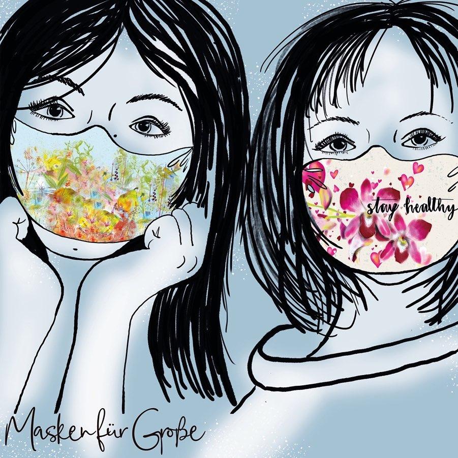 Bio-Baumwolle Panele für Gesichtsmasken für Große von Lillestoff