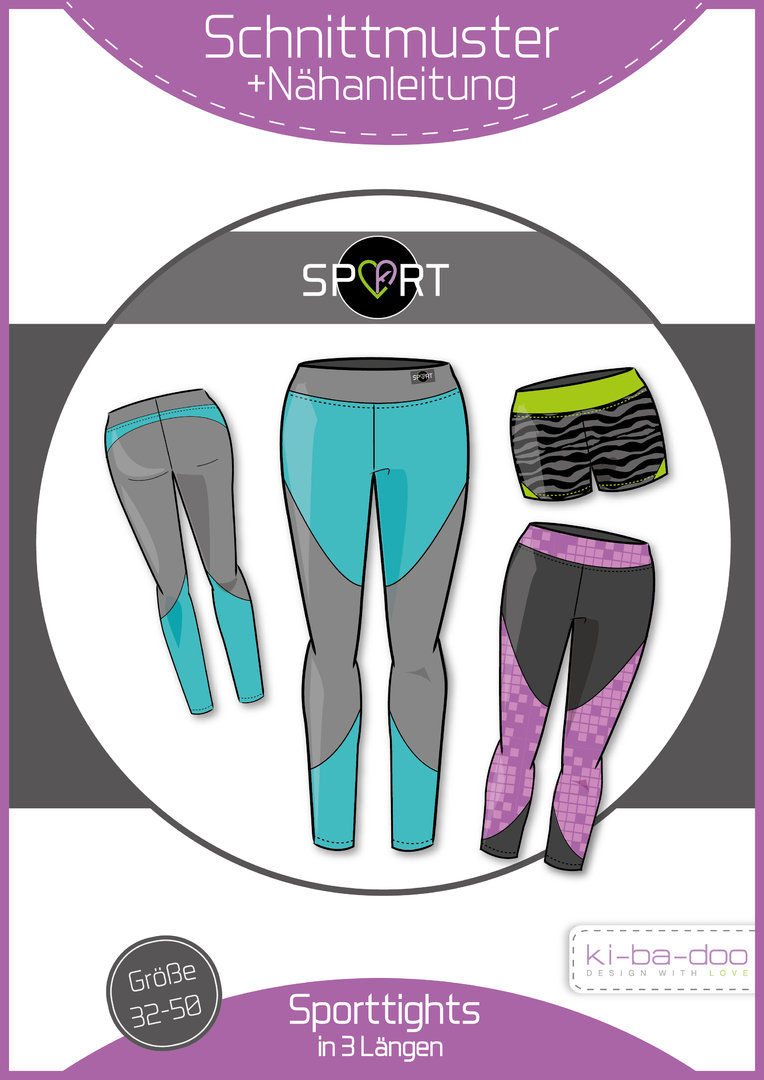 KI-BA-DOO Sport-Tight Hose Damen Papierschnittmuster