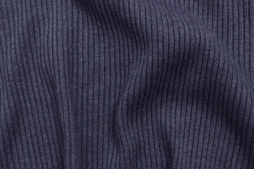 Rippenbündchen - Heavy Rib blaugrau