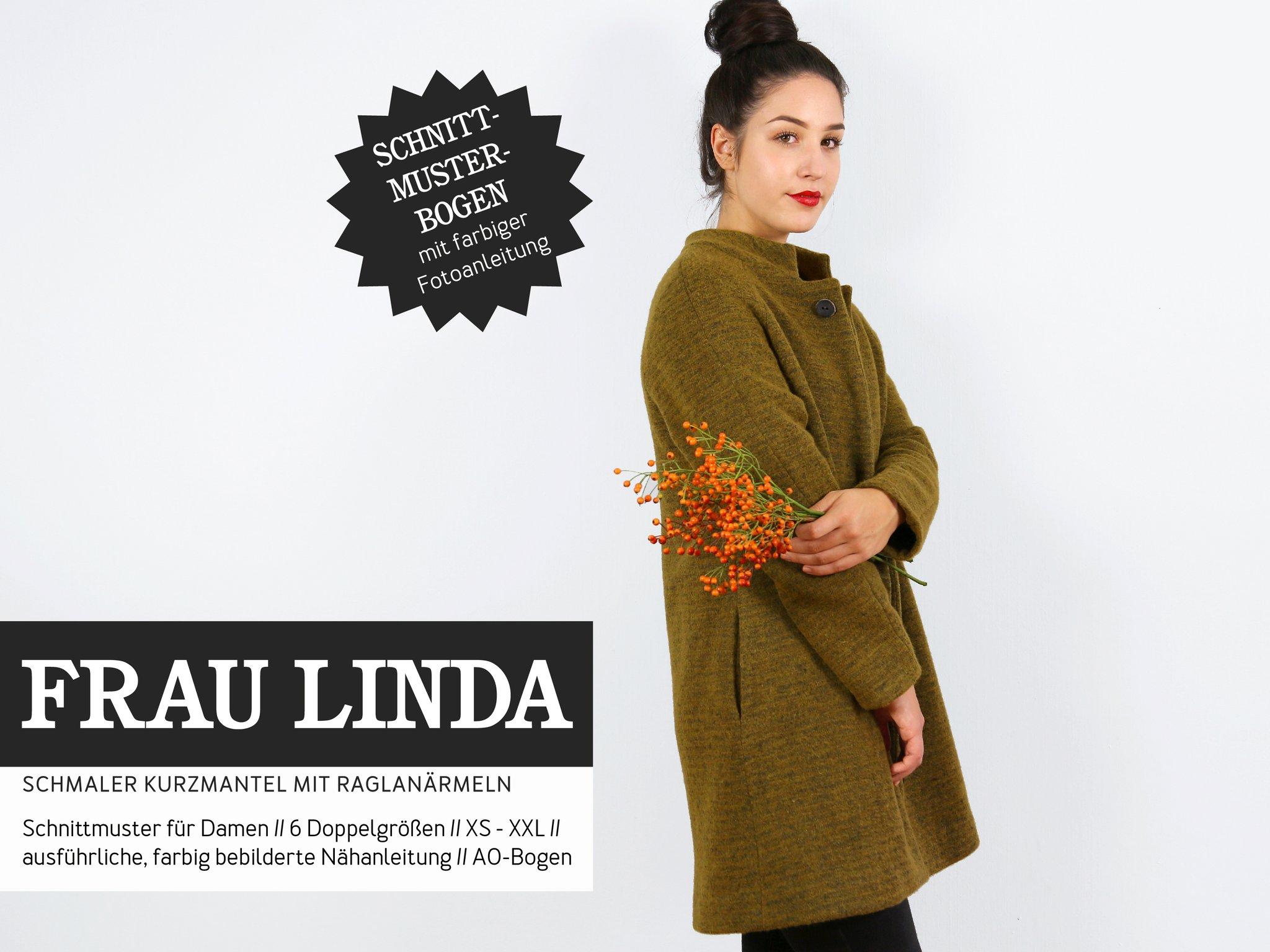 STUDIO SCHNITTREIF Frau Linda Kurzmantel - Papierschnittmuster