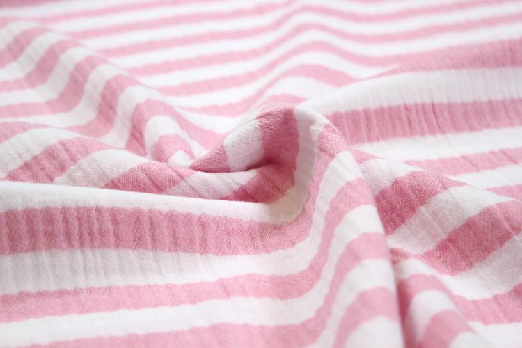 Musselin - mit rosanen Streifen