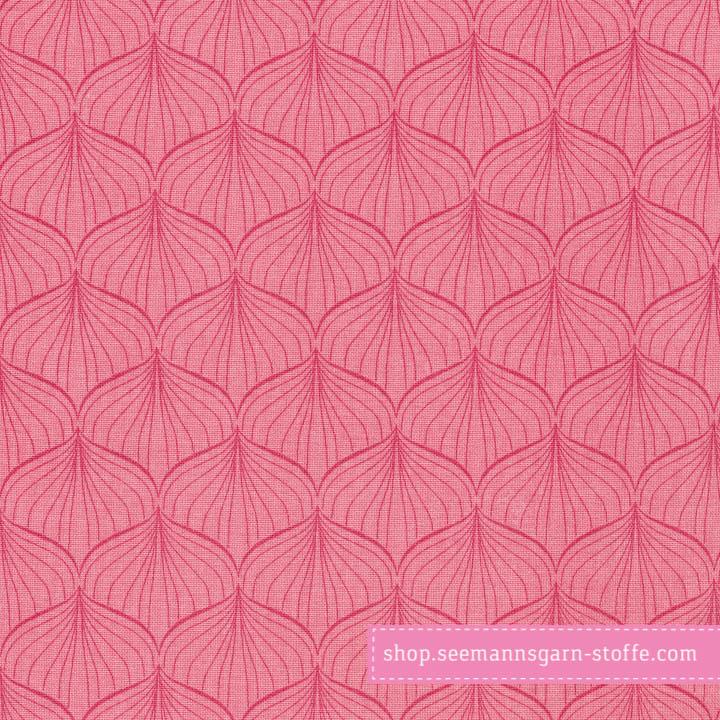 Wachstuch - Oilcloth Alli Rasperry/Peachy Pink