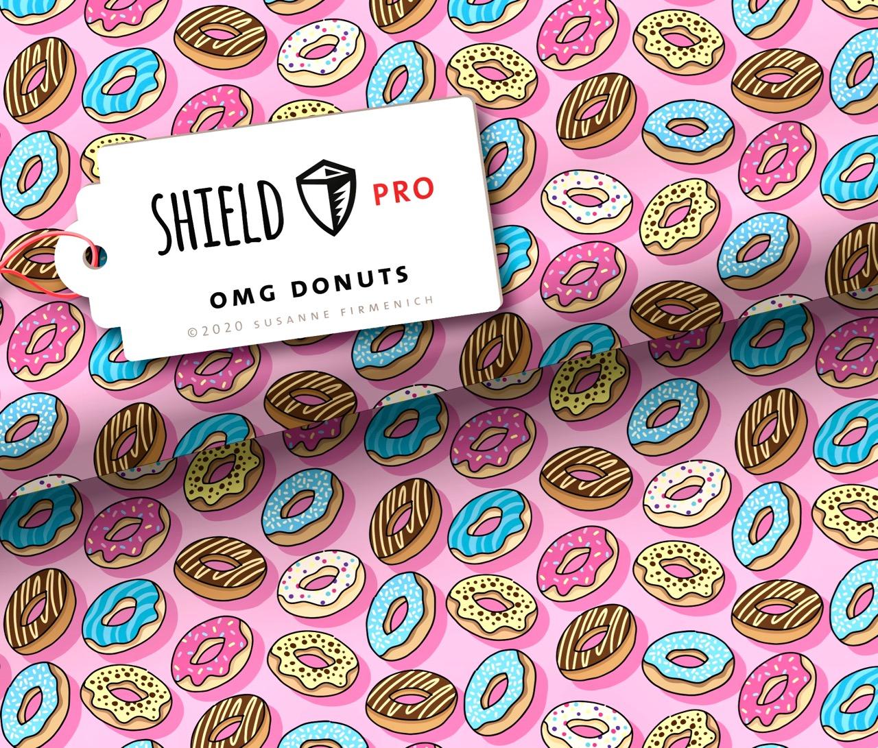 Shield PRO KIDS - OMG Donuts von Hamburger Liebe - antimikrobiell für Atem-und Mundmasken!
