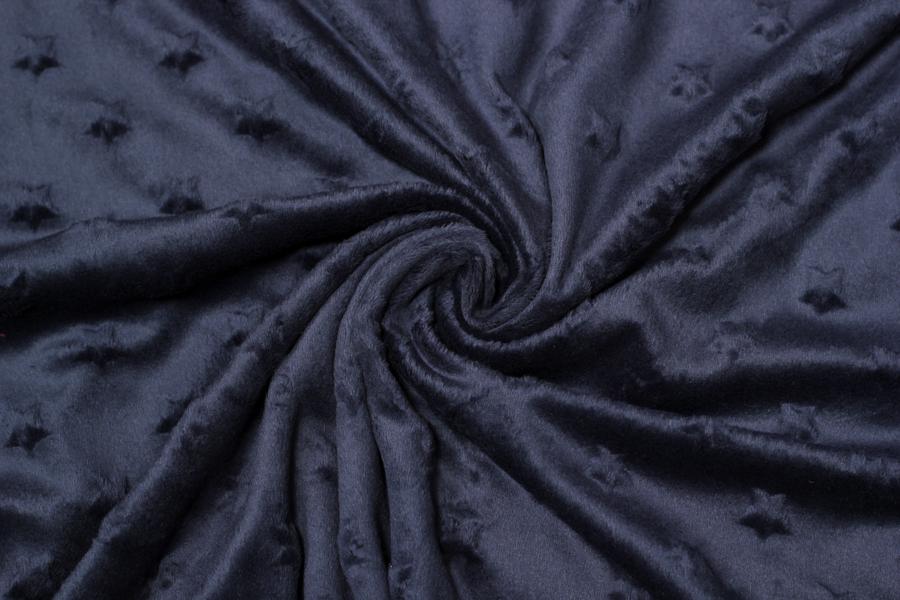 Fleece - dunkelblau mit Sternen