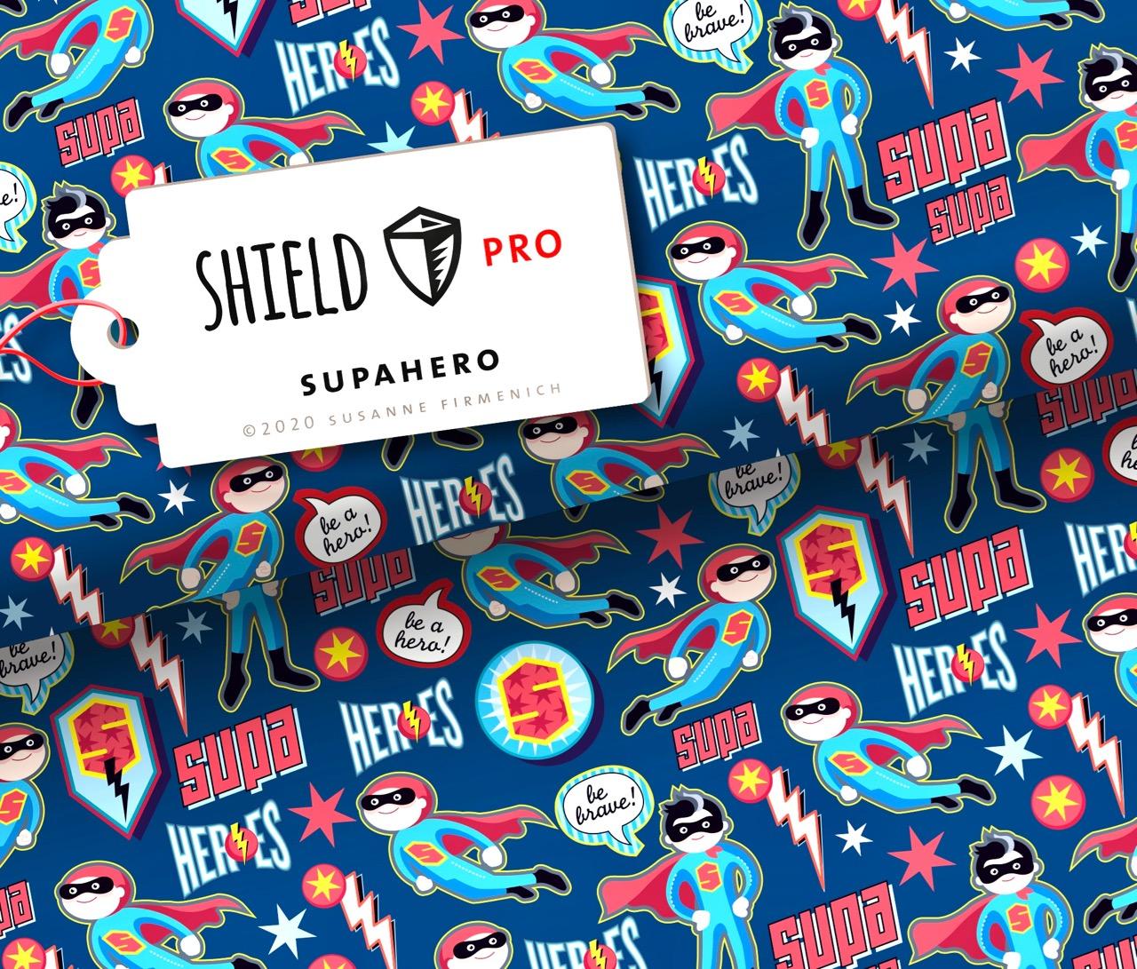 Shield PRO KIDS - Supahero von Hamburger Liebe & Albstoffe - antimikrobiell