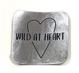 Label aus Kunstleder -Wild at heart