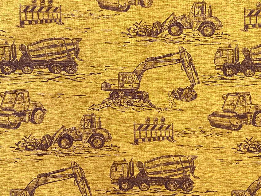 Jersey Baufahrzeuge in ocker/gelb von Hilco