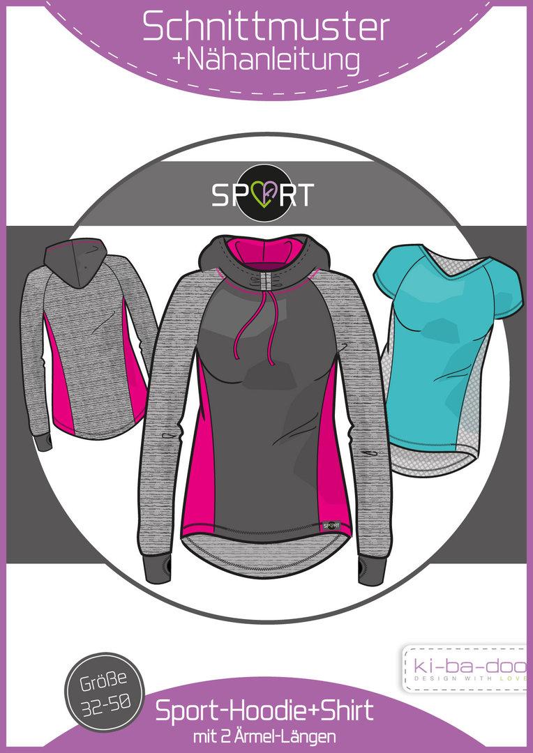 KI-BA-DOO Sporthoodie Shirt Papierschnittmuster