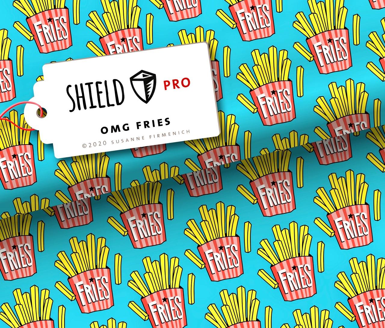 Shield PRO KIDS - OMG Fries von Hamburger Liebe & Albstoffe - antimikrobiell
