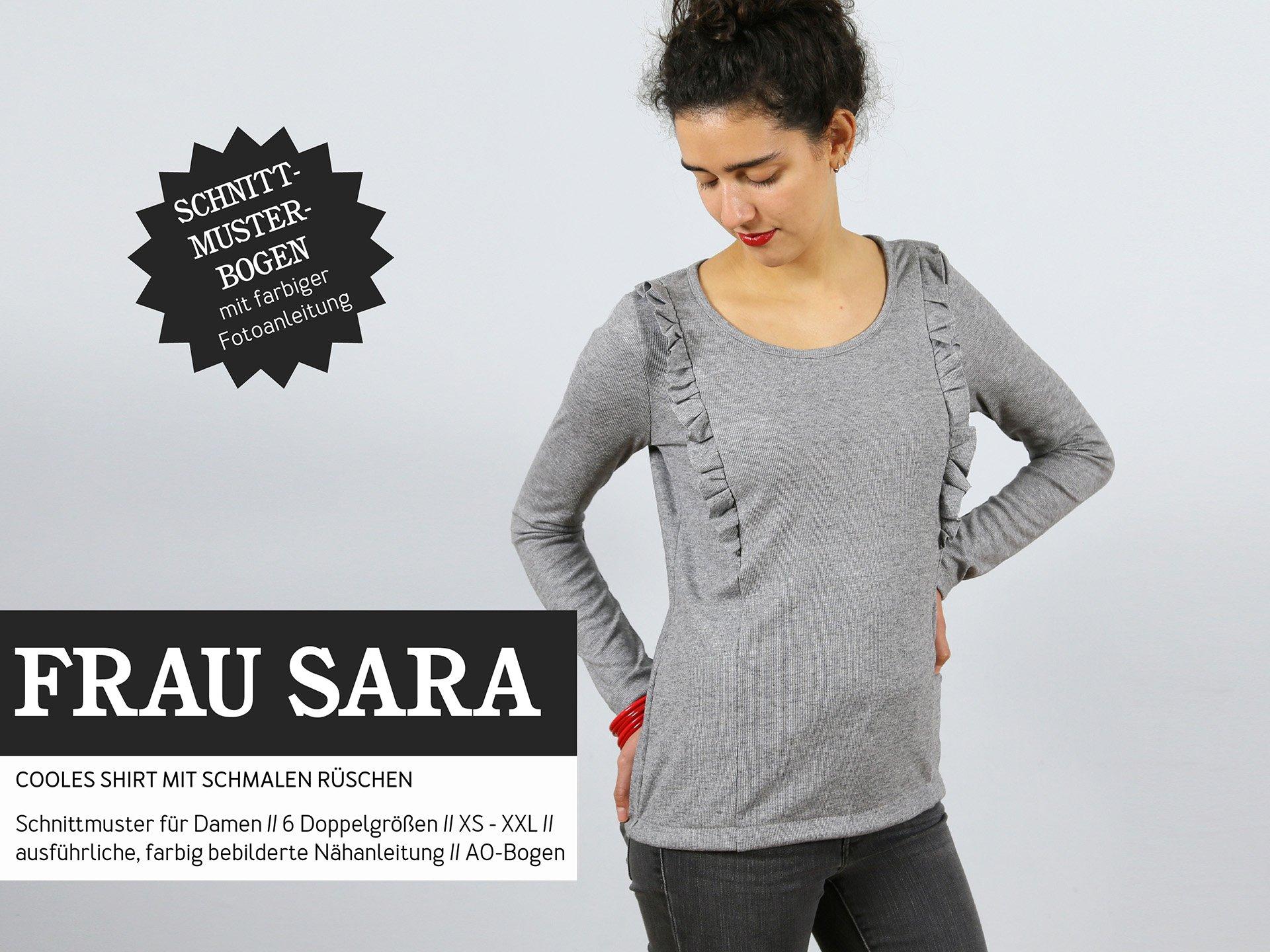STUDIO SCHNITTREIF Frau Sara Shirt Papierschnittmuster