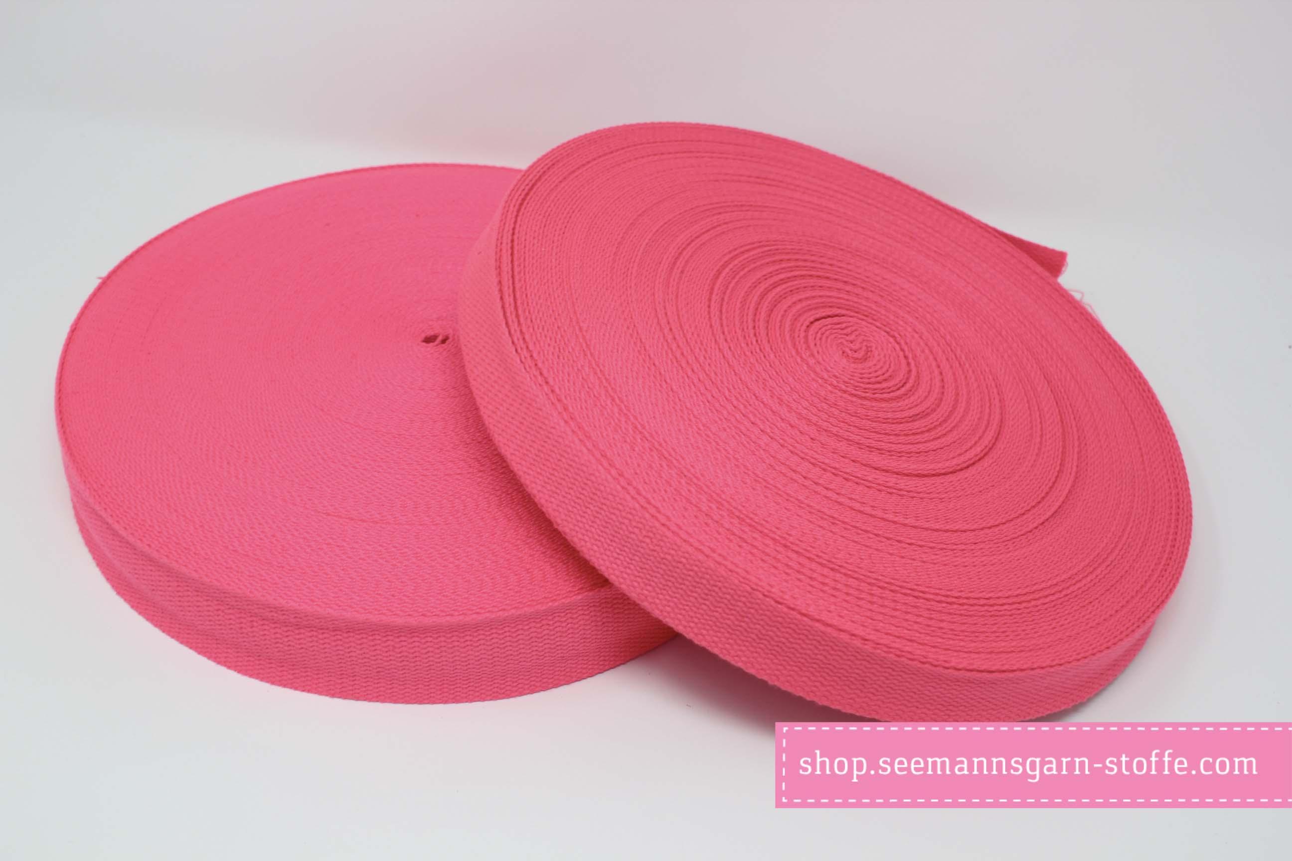 Baumwoll Gurtband rosa 38 mm