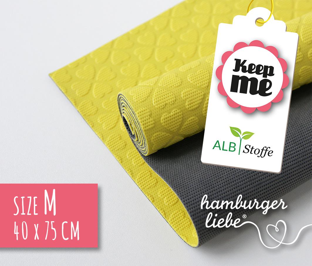 KEEP ME GELB - Antirutsch-Matte (M) 40x75 cm aus Naturkautschuk von Hamburger Liebe & Albstoffe