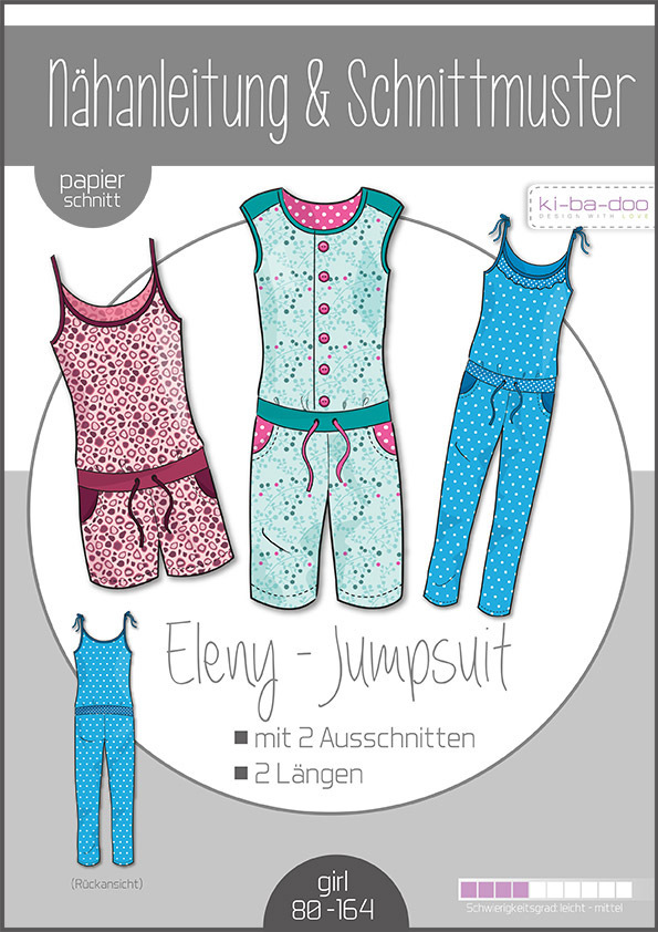 KI-BA-DOO Eleny Jumpsuit Papierschnittmuster