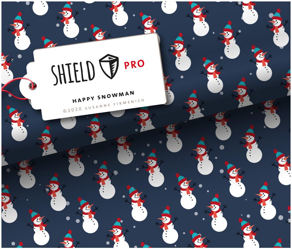 Shield Pro - Happy Snowman von Hamburger Liebe & Albstoffe - antimikrobiell