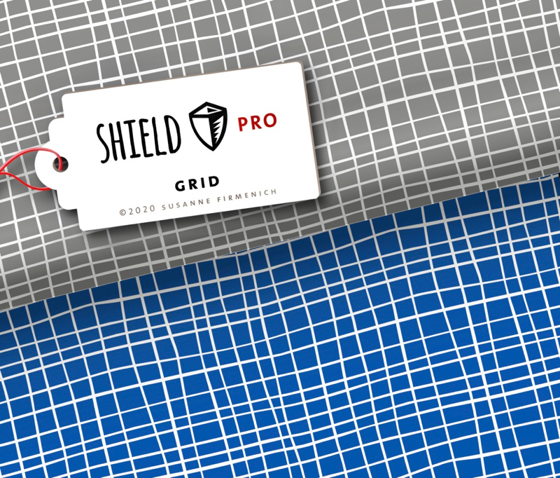 Shield Pro - Grid blau von Hamburger Liebe - antimikrobiell