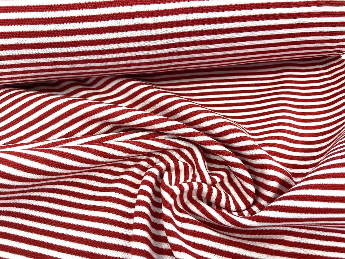 Bündchen - rot/weiß gestreift