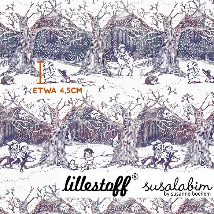 Sommersweat Susalabims Winterwald von lillestoff