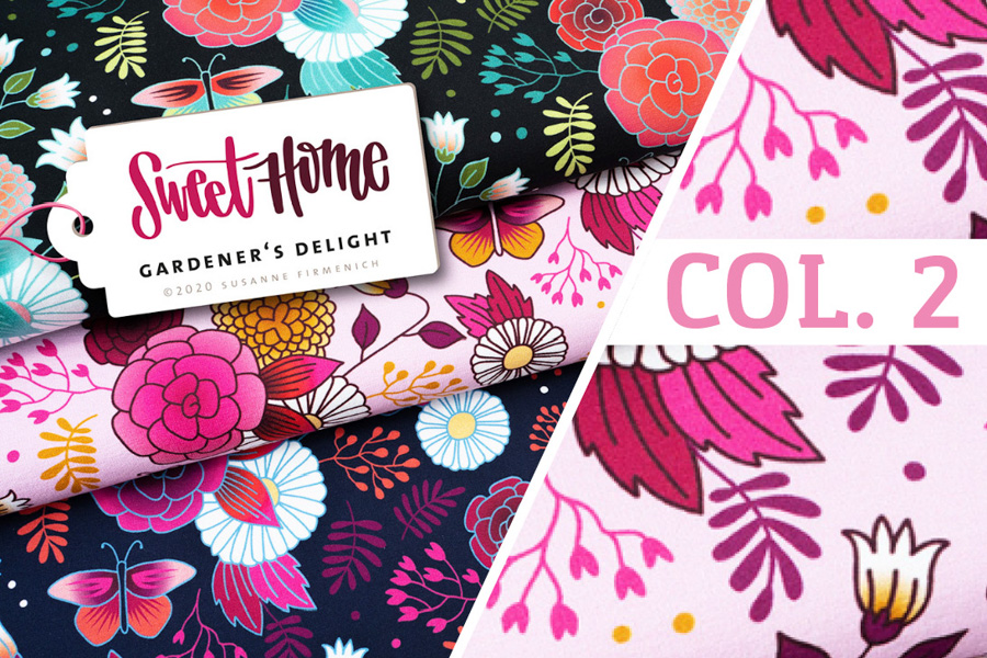 Bio-Jersey - SWEET HOME Gardener's Delight Col. 2 (rosa) - HAMBURGER LIEBE & ALBSTOFFE