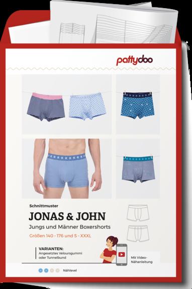 PattyDoo Jonas & John Boxershorts Papierschnittmuster